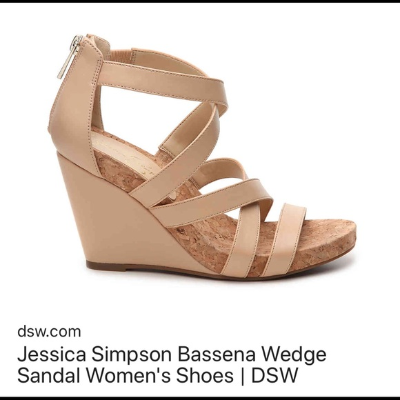 8a325dfd8a8f Jessica Simpson Shoes - Jessica Simpson Bassena Sand Dune wedge sandals